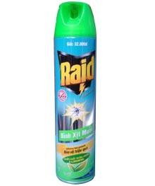 Thuốc diệt côn trùng Raid X-tra 600ml